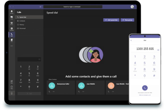 Unified communications app included in Office 365.