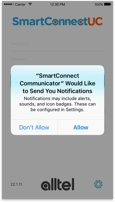 Allow app notifications
