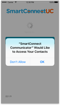 Select ok to allow access