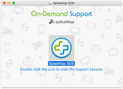 Double click the icon to start the support session