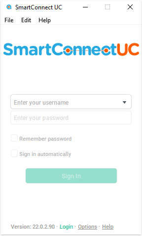 Login to SmartConect UC App
