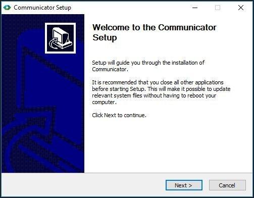 Communicator Setup