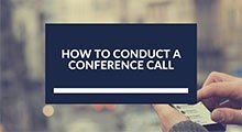 How to conduct a conference call